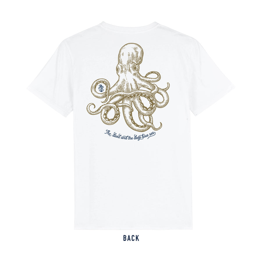 White JackSpeak Kraken T Shirt