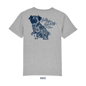 Men's Salty Sea Dog Grey T Shirt