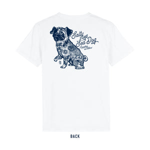 Men's Salty Sea Dog White T Shirt
