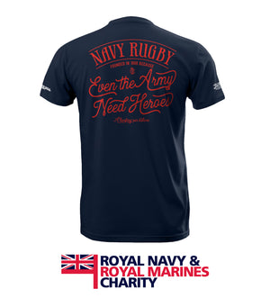 Men's Blue Navy Rugby RNRMC Charity T Shirt