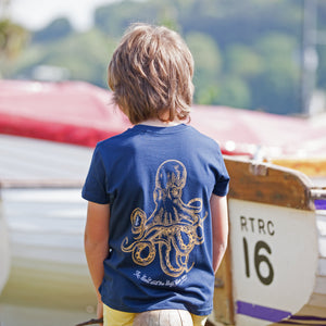 Kids' Navy Kraken T Shirt