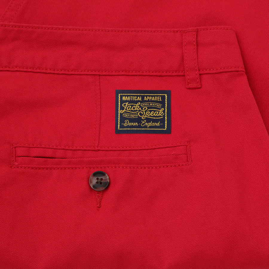 Men's Red Chino Shorts