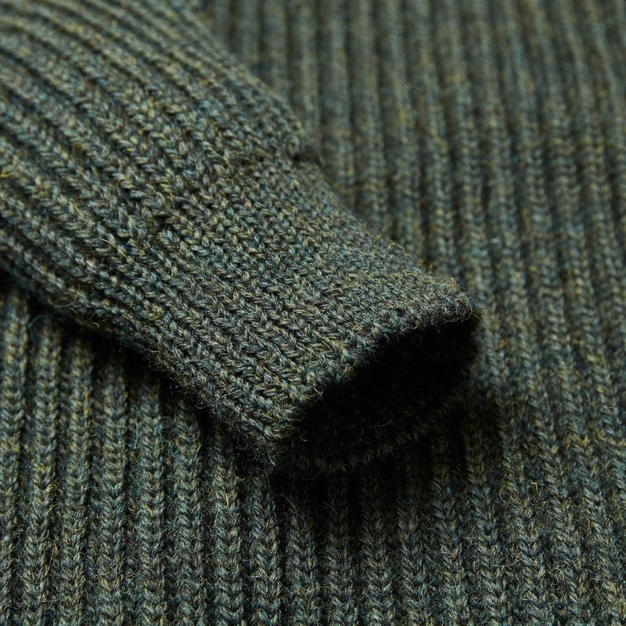 Green Lambswool Shooting Jumper