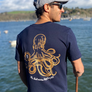 Blue JackSpeak Kraken T Shirt