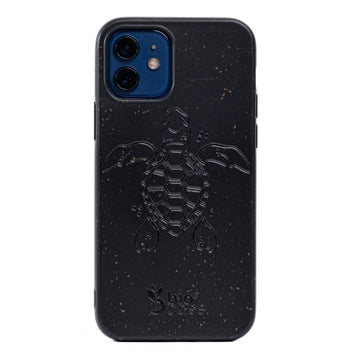 Funda para Iphone 12 MINI Black Edition Apoyo A Las Tortugas Marinas