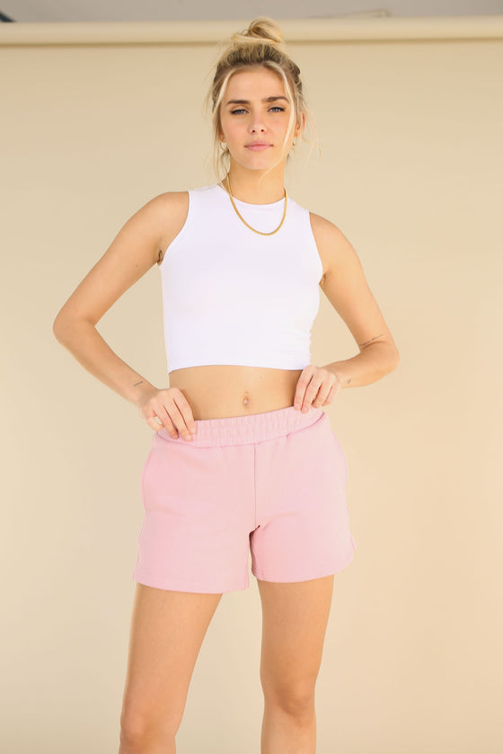 Softlux Shorts - Blush Pink