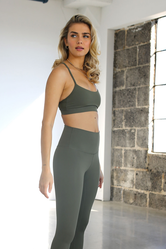 Flow Bra - Military Green