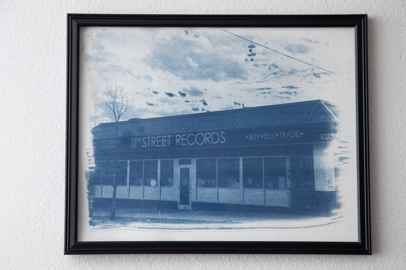 11th Street Records Cyanotype Print