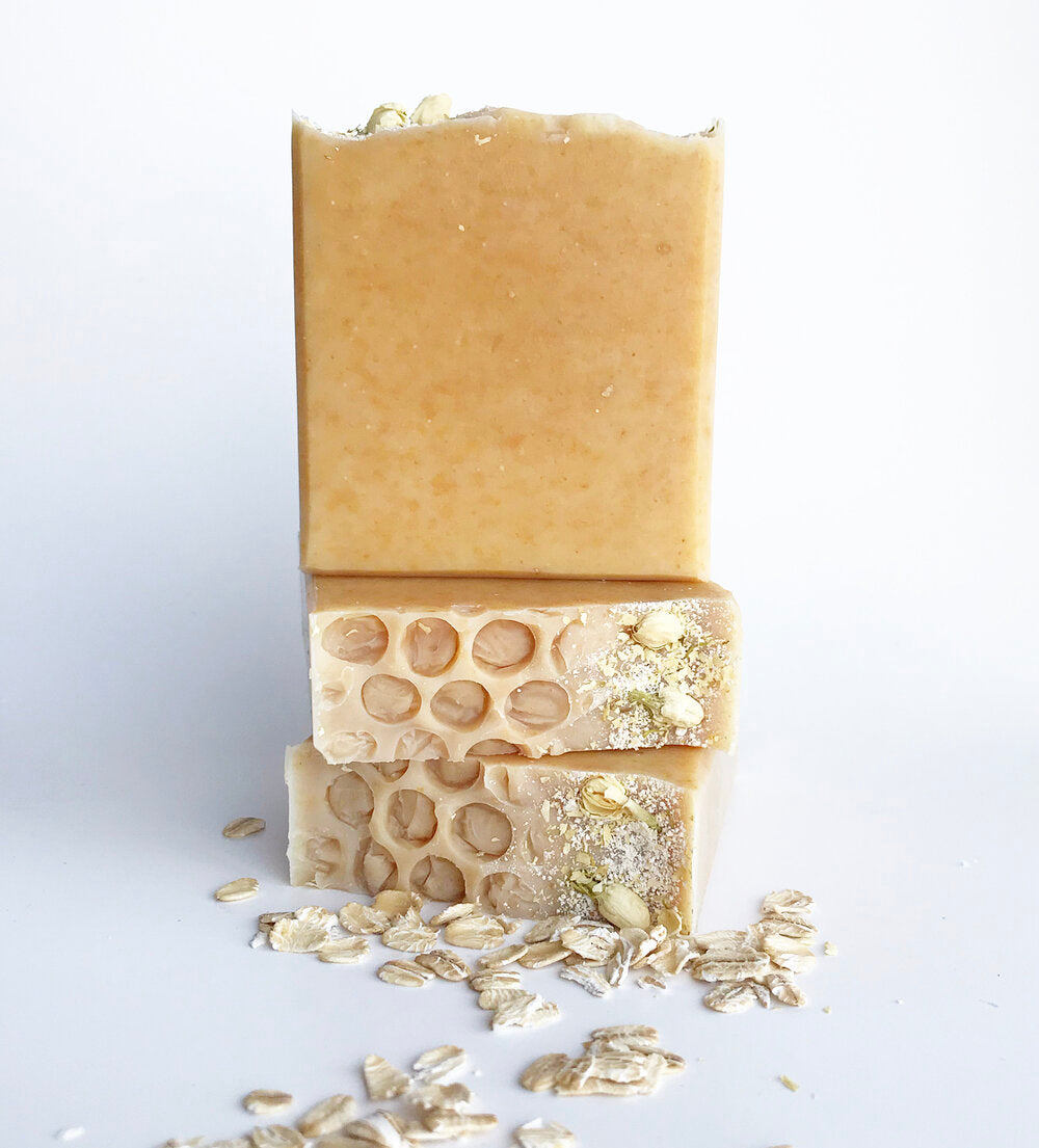 Floral Honeycomb Oatmeal Soap