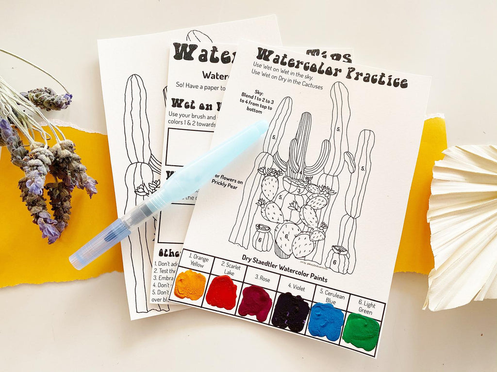 Cactus Watercolor DIY Kit