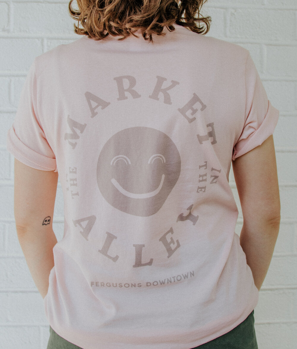 Grey and Pink Smile Shirt
