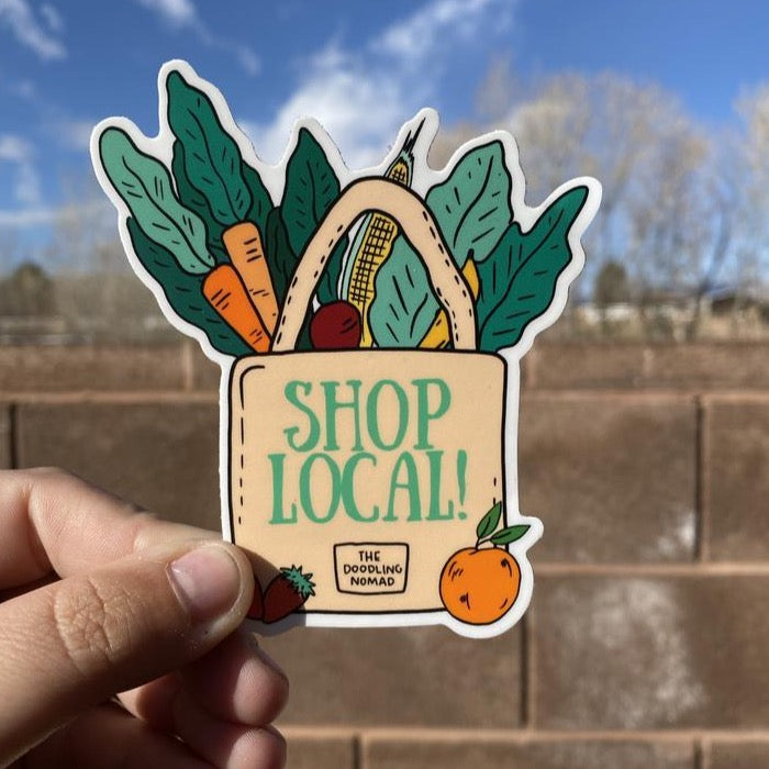 Shop Local Sticker