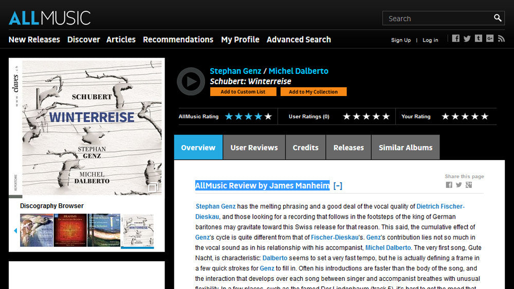 Claves Records | AllMusic Review: Stephan Genz & Michel