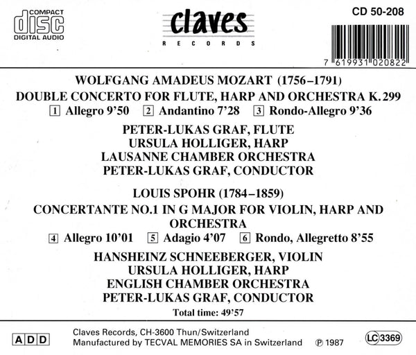 (1987) Mozart & Spohr: Concertante Works / CD 0208 - Claves Records