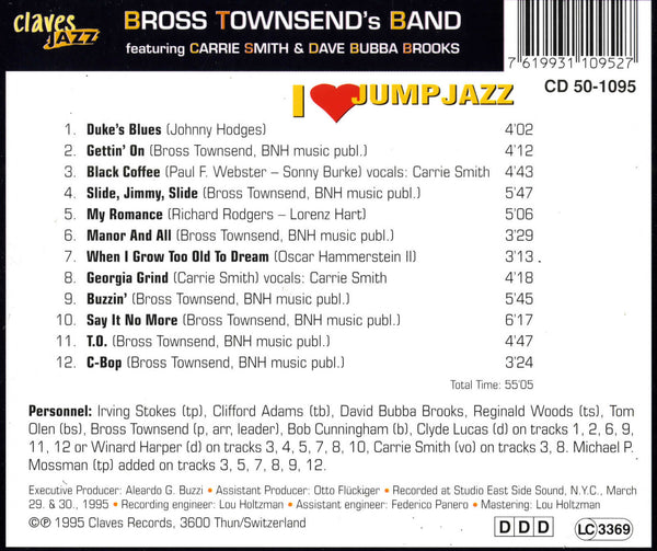 (2013) I Love Jump Jazz / CJ 1095 - Claves Records