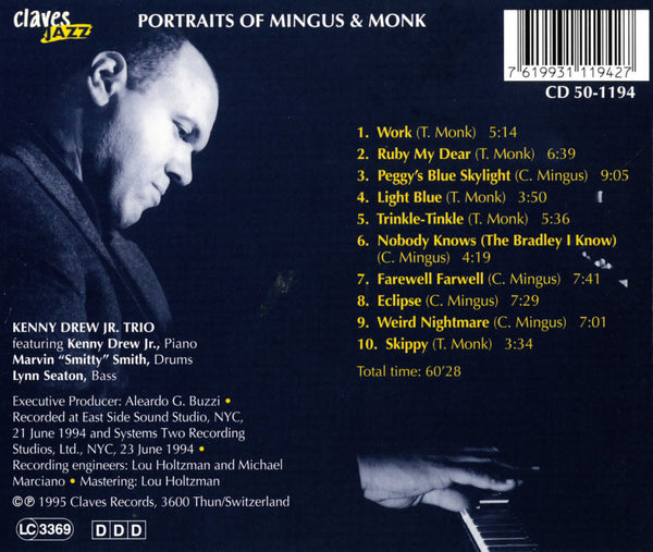 (2013) Portraits of Charles Mingus and Thelonious Monk / CJ 1194 - Claves Records