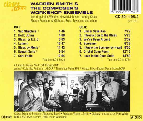 (2013) Warren Smith & The Composer's Workshop Ensemble / CJ 1195-2 - Claves Records