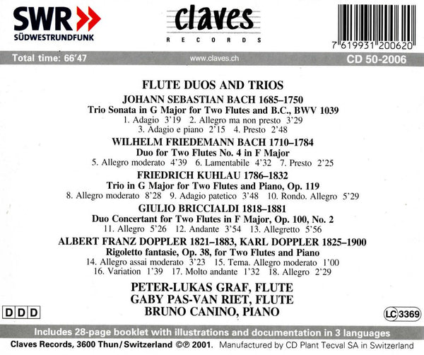 (2001) Flute Duos & Trios / CD 2006 - Claves Records
