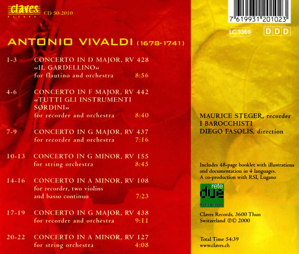 (2000) Vivaldi: Concertos / CD 2010 - Claves Records