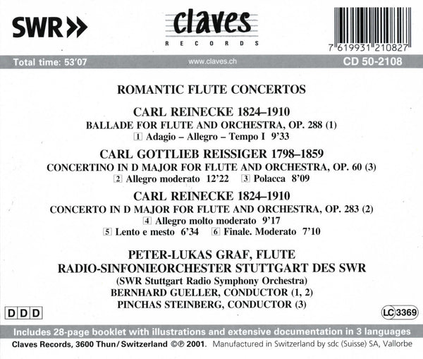 (2001) Romantic Flute Concertos - CD 2108 - Claves Records