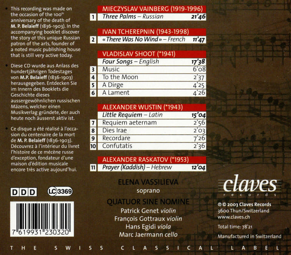 (2003) Russian Works for Soprano & String Quartet - CD 2303 - Claves Records