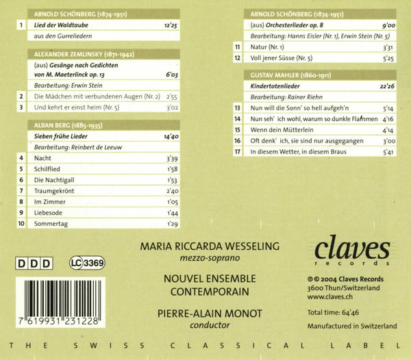 (2004) Wien 1900: Modern Songs for Soprano & Ensemble / CD 2312 - Claves Records
