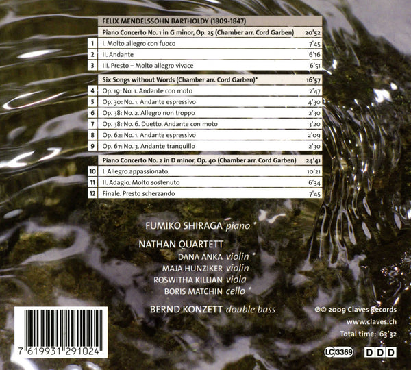 (2009) Mendelssohn: Piano Concertos Op. 25 & Op. 40 - Six Songs Without Words: Chamber Arrangements - CD 2910 - Claves Records