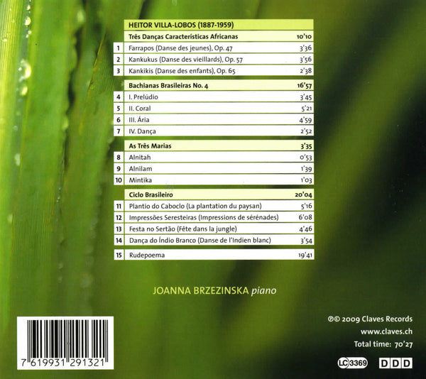 (2009) Villa-Lobos: Piano Music Vol. 2 - CD 2913 - Claves Records
