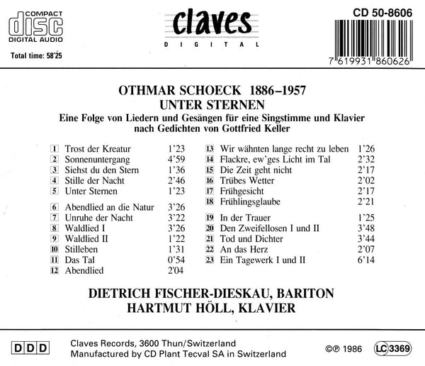 (1986) Schoeck: Unter Sternen, Op. 55 / CD 8606 - Claves Records
