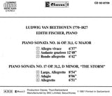 "(1987) Beethoven: Piano Sonatas No. 16 in G Major, Op. 31 No. 1 & No. 17 in D Minor, Op. 31 No. 2 ""The Storm"""