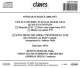 (1992) Schoeck: Violin Concerto & Suite from Penthesilea,