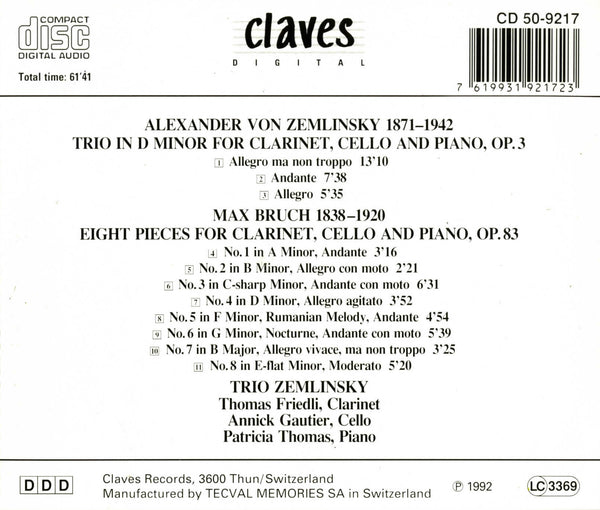 (1992) Romantic Chamber Music / CD 9217 - Claves Records