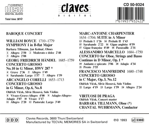 (1993) Baroque Concert / CD 9324 - Claves Records