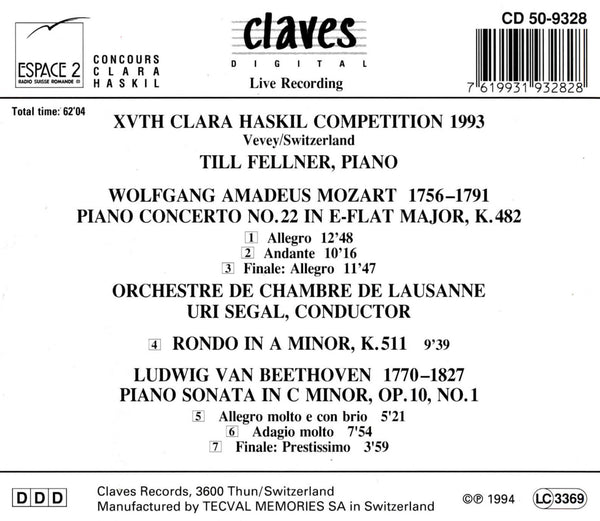 (1994) XVth Clara Haskil Competition 1993 / CD 9328 - Claves Records