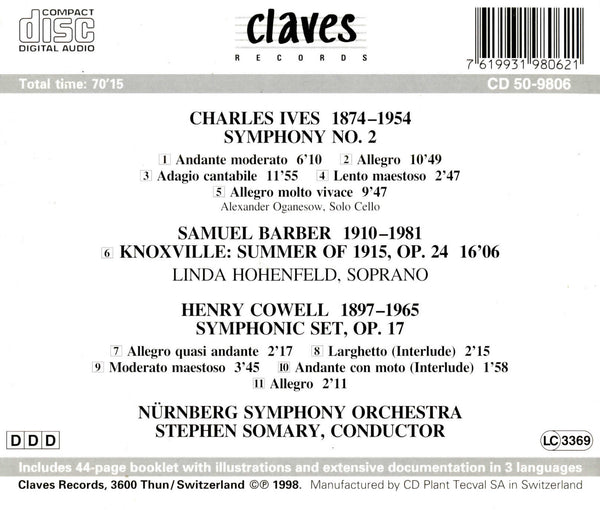 (1998) 20th Century American Music / CD 9806 - Claves Records
