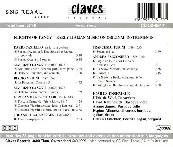(1999) Early Italian Music on Original Instruments - CD 9817 - Claves Records