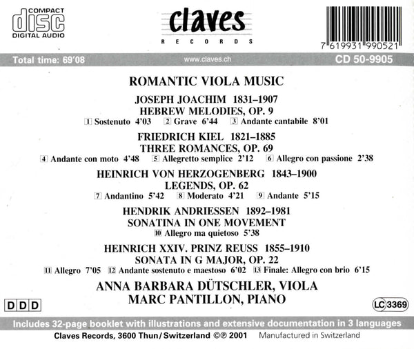 (2000) Romantic Viola Music / CD 9905 - Claves Records