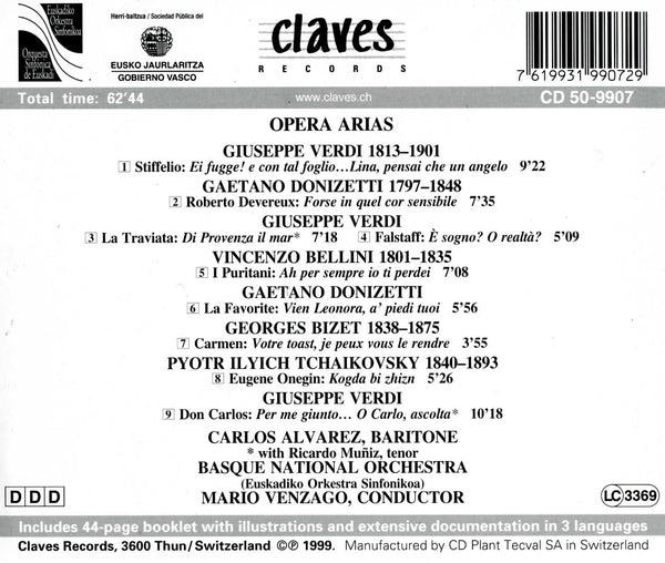 (1999) Romantic Opera Arias / CD 9907 - Claves Records