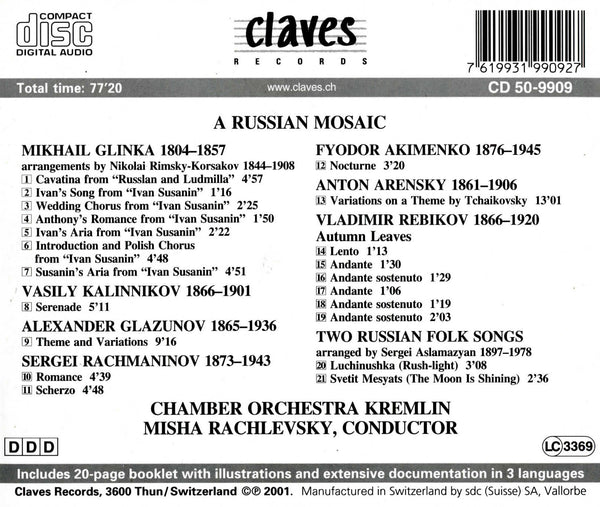 (2001) A Russian Mosaic / CD 9909 - Claves Records