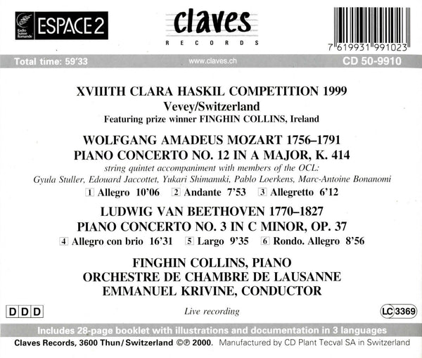 (2000) XVIIIth Clara Haskil Competition 1999 (Live Recordings) / CD 9910 - Claves Records