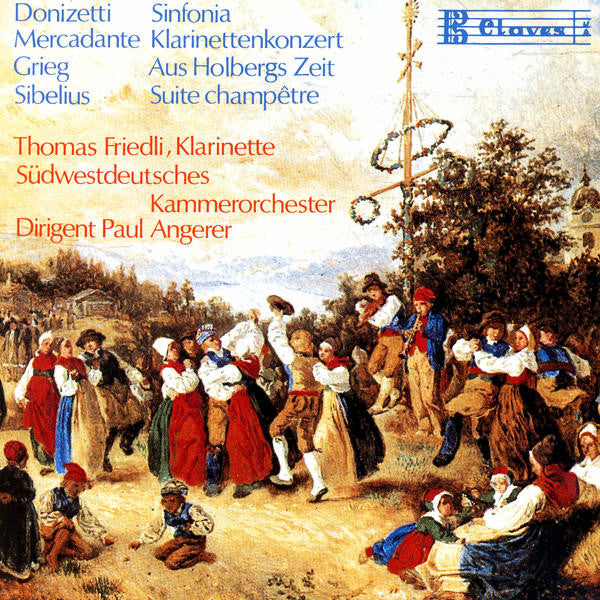 (1989) Donizetti / Mercadante / Grieg / Sibelius - CD 0709 - Claves Records