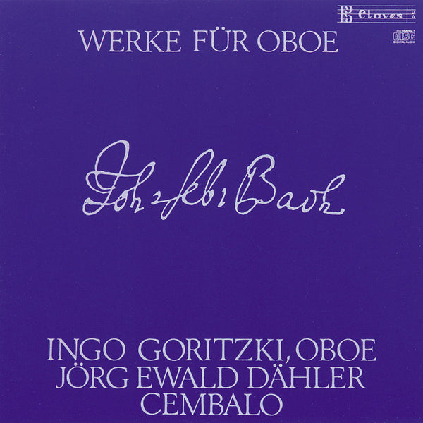 (1987) J. S. Bach : Works for Oboe and Harpsichord / CD 0908 - Claves Records