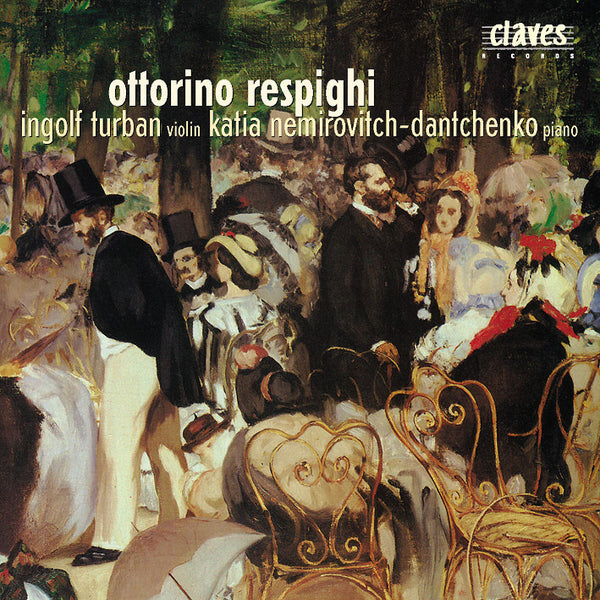 (2002) Respighi: Original Pieces for Violin & Piano / CD 2109 - Claves Records