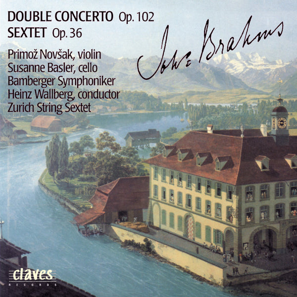 (1989) Brahms: Double Concerto, Op. 102 - Sextet, Op. 36 - CD 8014 - Claves Records