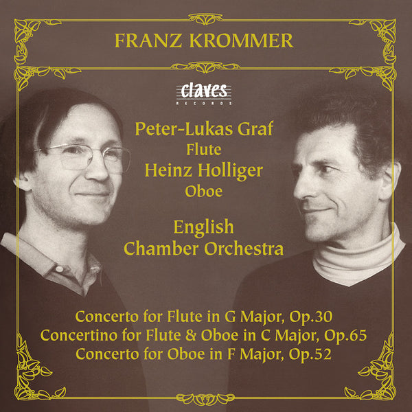 (1983) Franz Krommer: Flute & Oboe Concertos / CD 8203 - Claves Records