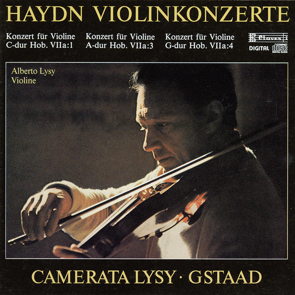 (1986) Joseph Haydn: Concertos For Violin & String Orchestra / CD 8303 - Claves Records