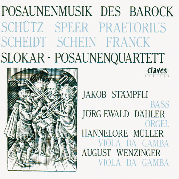 (1984) German Baroque Music For Trombones - CD 8402 - Claves Records