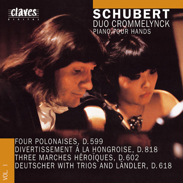(1988) Franz Schubert: Works for Piano 4 Hands Vol. I / CD 8802 - Claves Records
