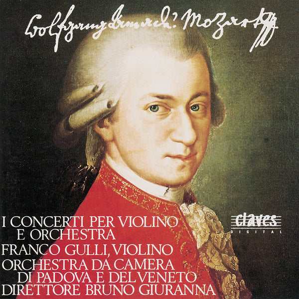 (1989) W.A. Mozart : The 5 Violin Concertos - Adagio K. 261 - Rondo K. 269 - Rondo K. 373 / CD 8913-14 - Claves Records