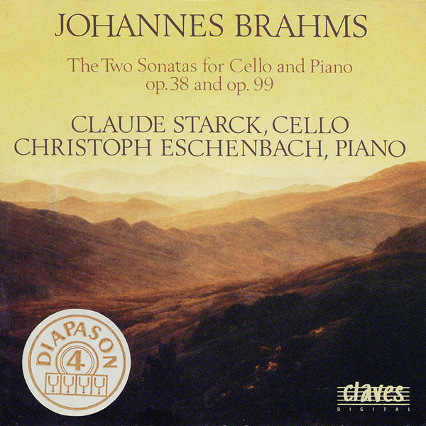 (1990) Brahms: The Sonatas for Cello & Piano Op. 38 & Op. 99 / CD 9005 - Claves Records